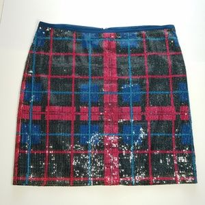 NEW Tommy Hilfiger Sequin Plaid Short Skirt
